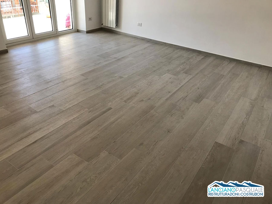 ristrutturazione pavimento gress effetto legno ditta lanciano pasquale Roma